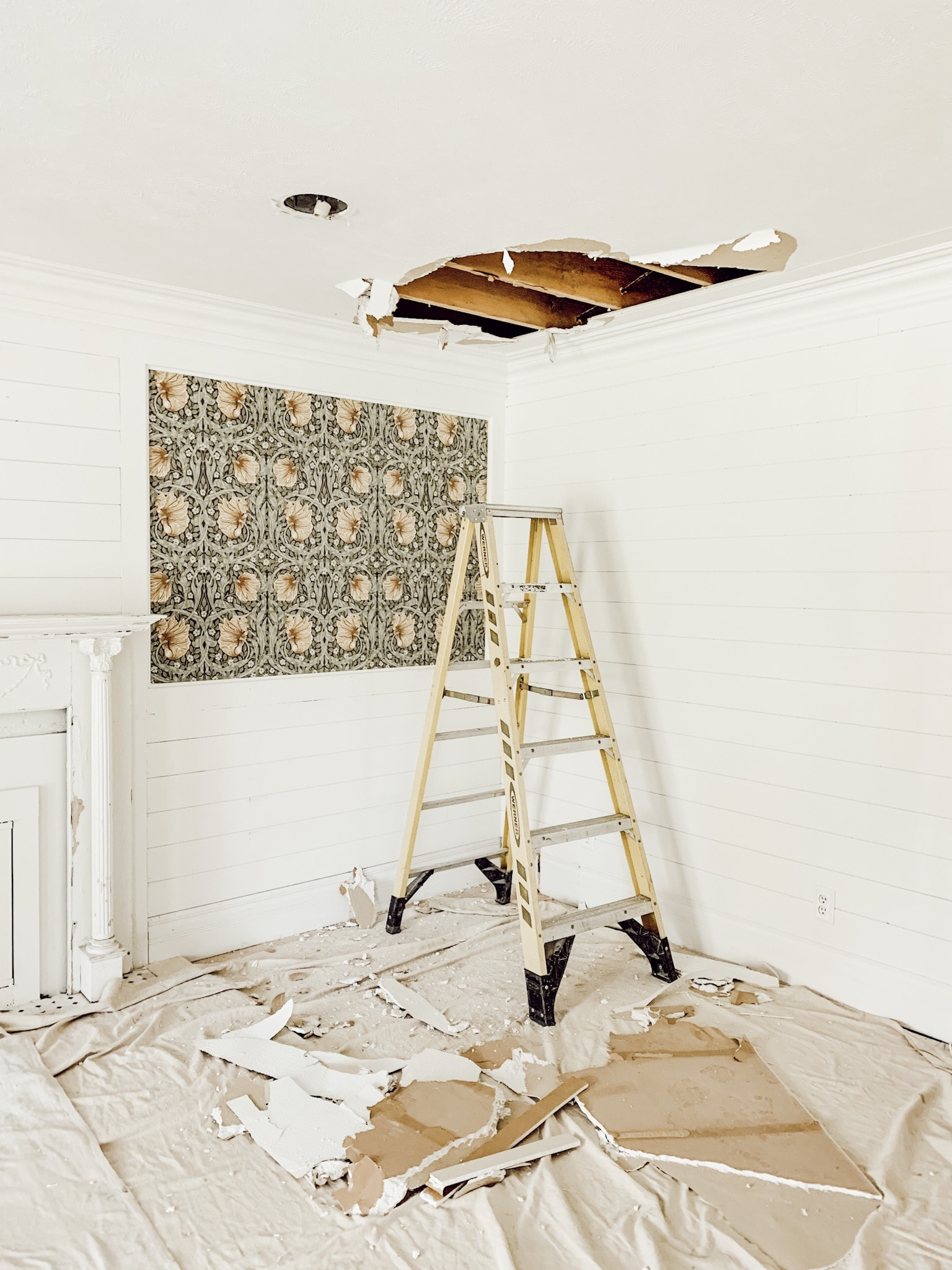 Why we tore out our ceilings