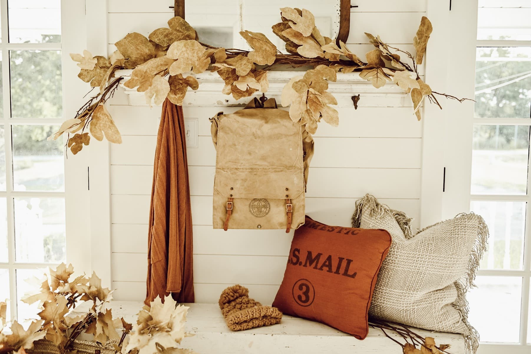 Rustic Fall Entryway