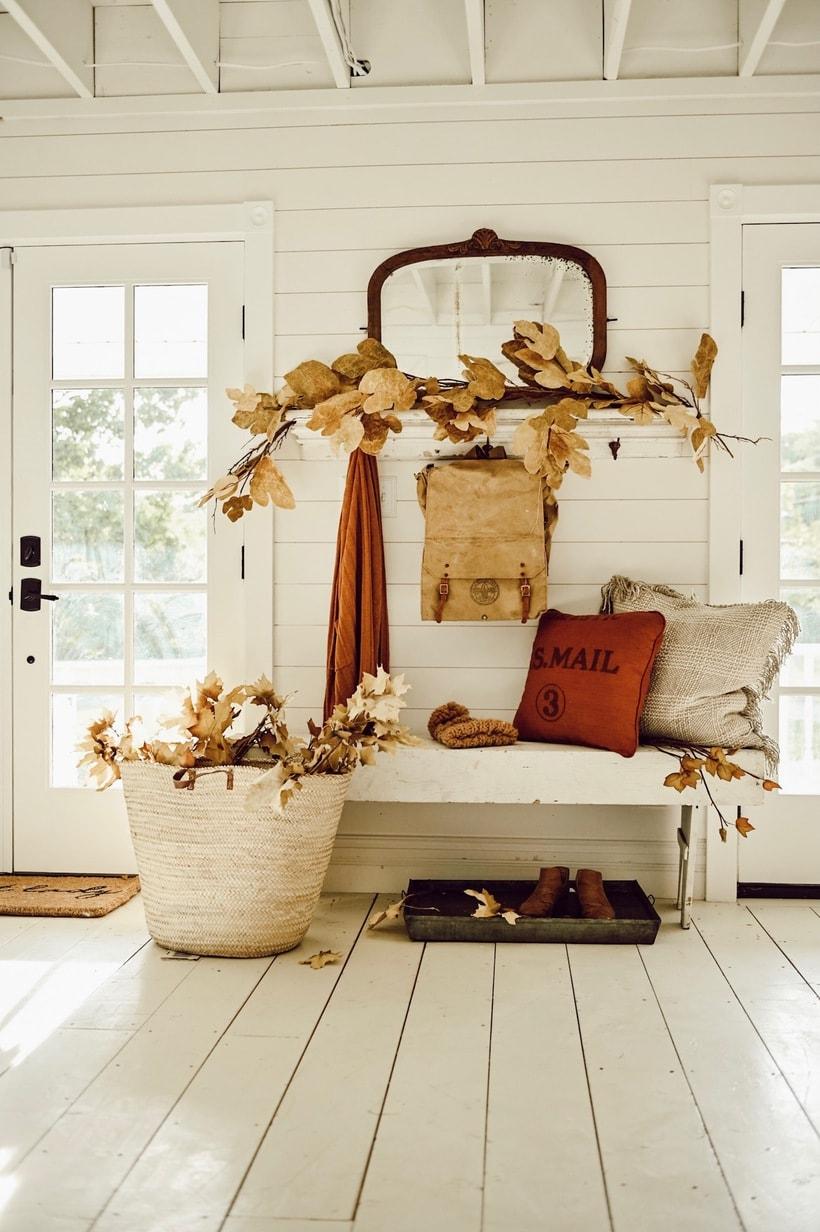 Fall Entryway, Rustic Fall Entryway