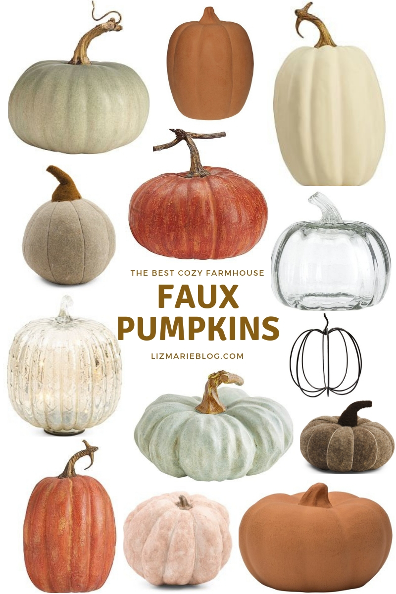 Faux Pumpkins, The Best Faux Pumpkin Decor