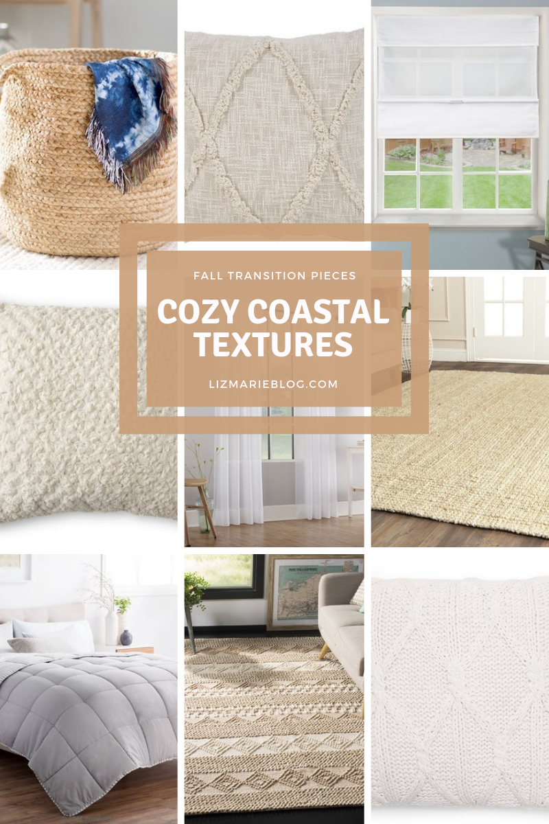 cozy coastal textures collage