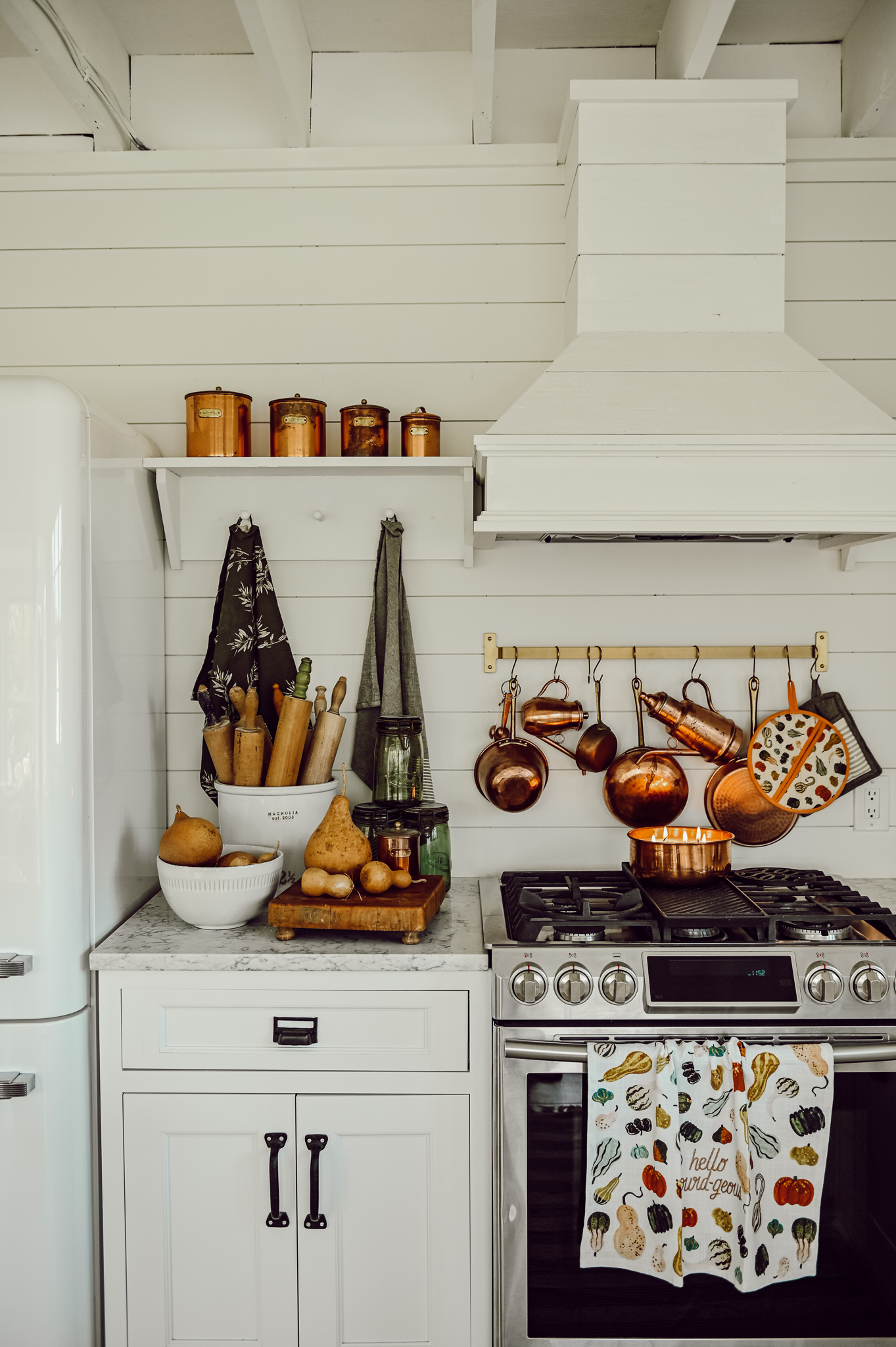 Cozy Fall Kitchen, A Cozy Fall Kitchen Corner