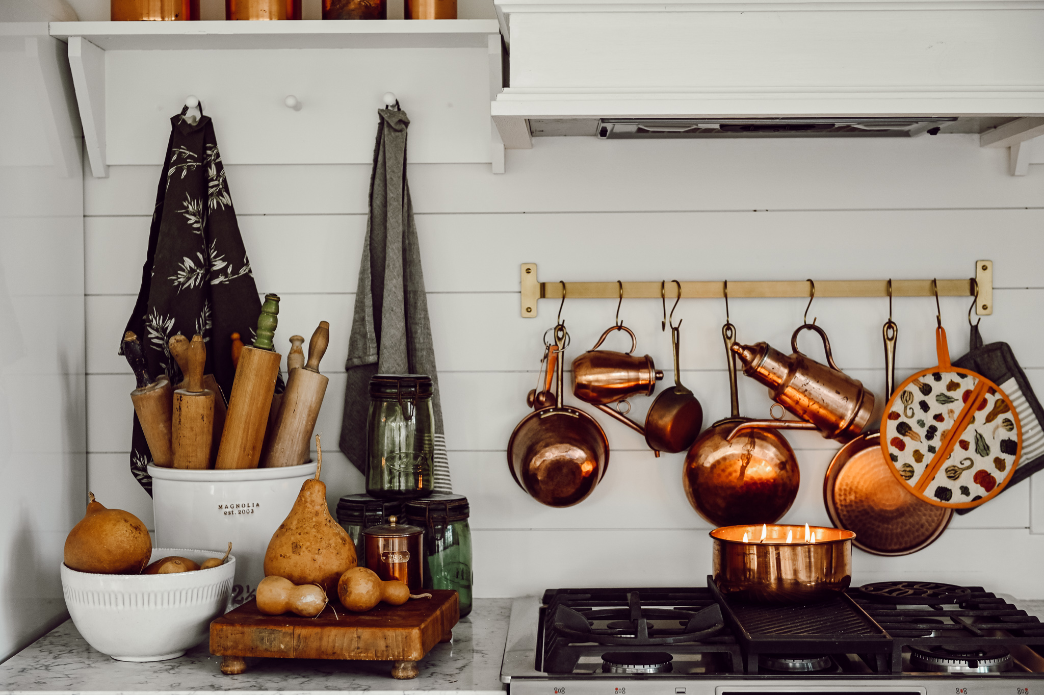 A Cozy Fall Kitchen Corner