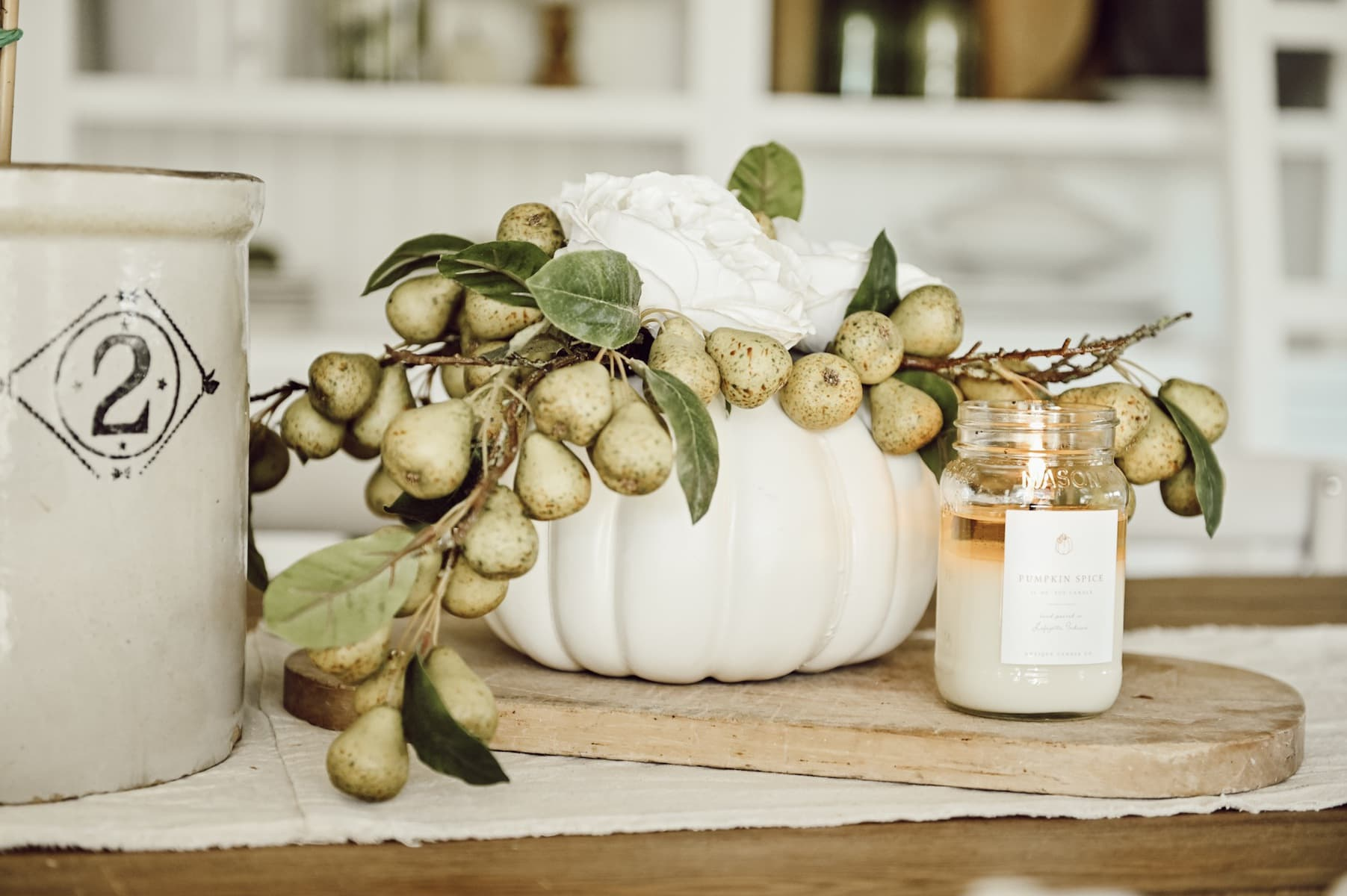 DIY Pumpkin centerpiece for fall