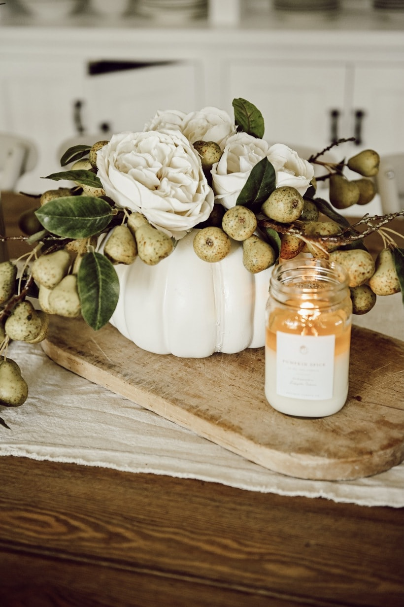 DIY Pumpkin, DIY Floral Pumpkin Centerpiece