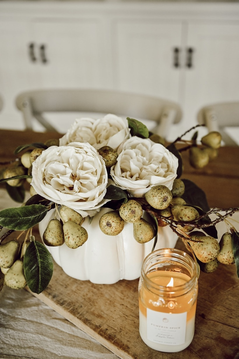 Faux Pumpkin DIY Centerpiece