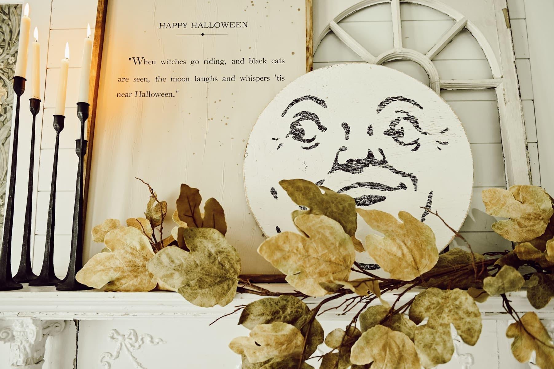 Cozy Halloween Mantel, A Cozy Halloween Mantel