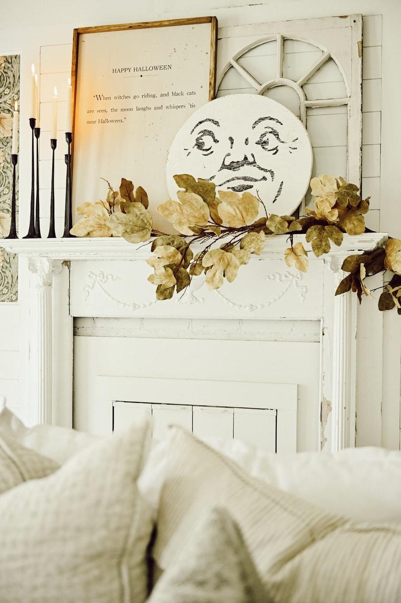 Cozy Halloween Mantel