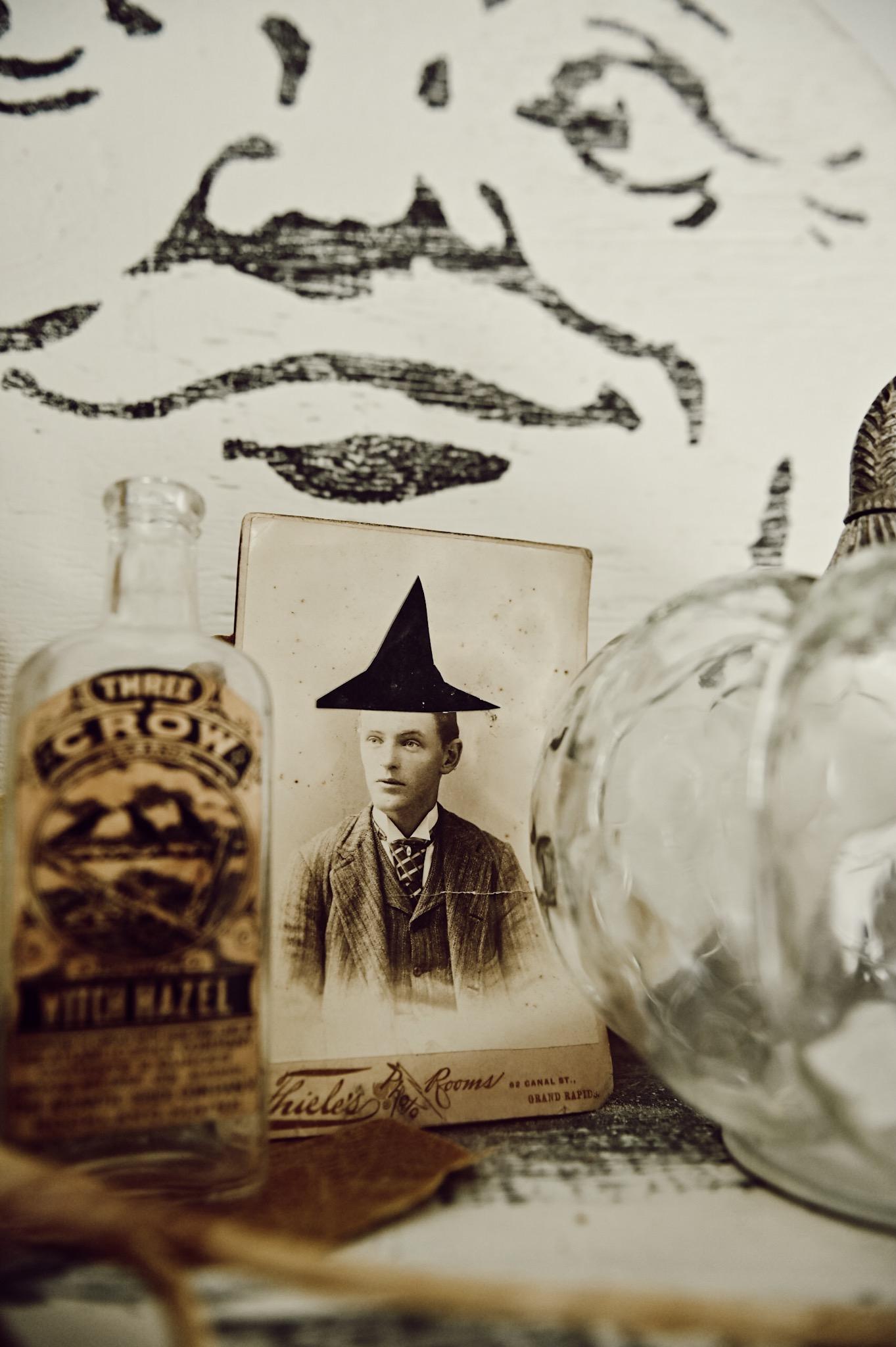 , Layered Halloween Mantel