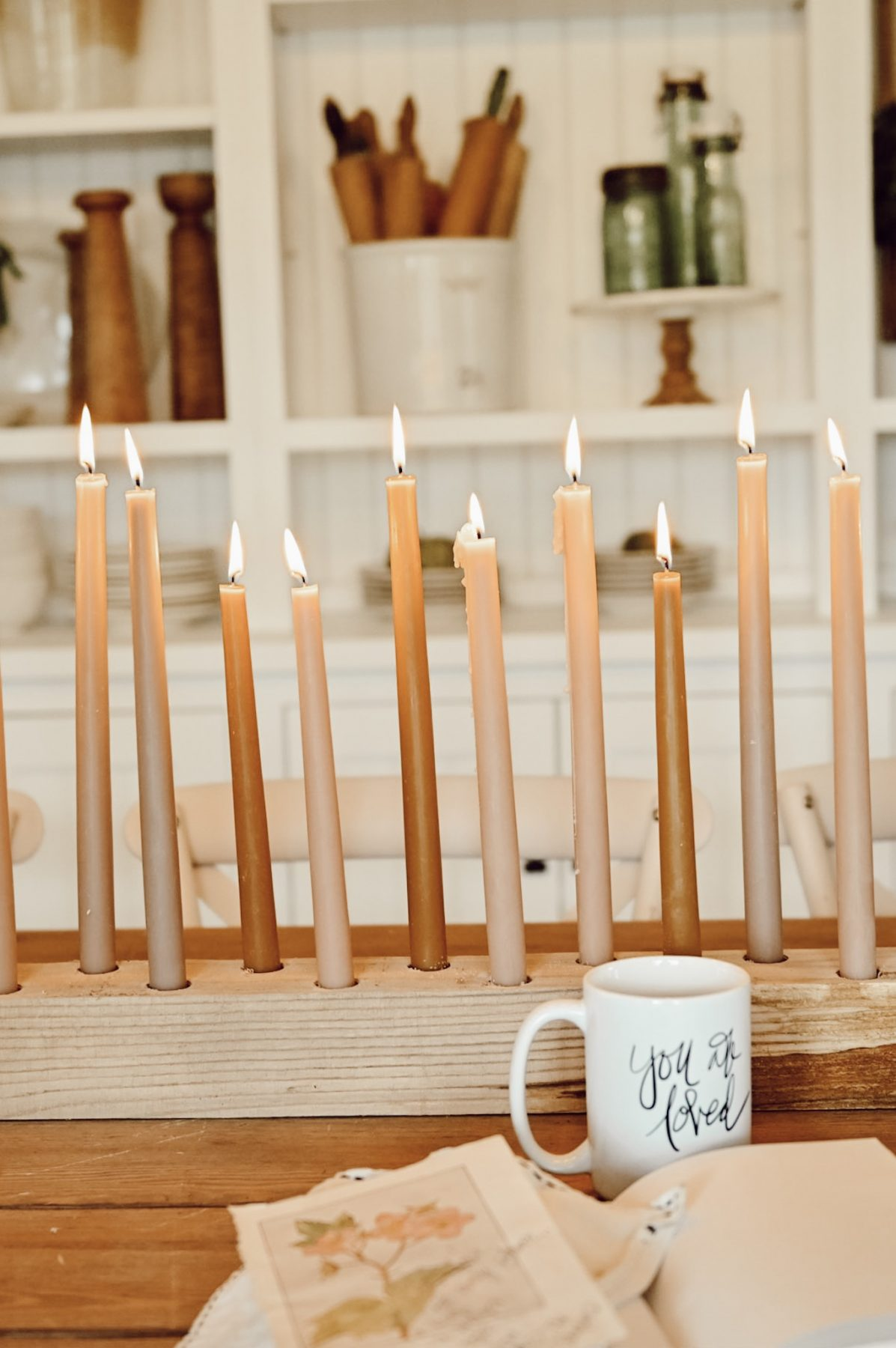 Decorate your next tablescape with this easy DIY Candlestick Holder