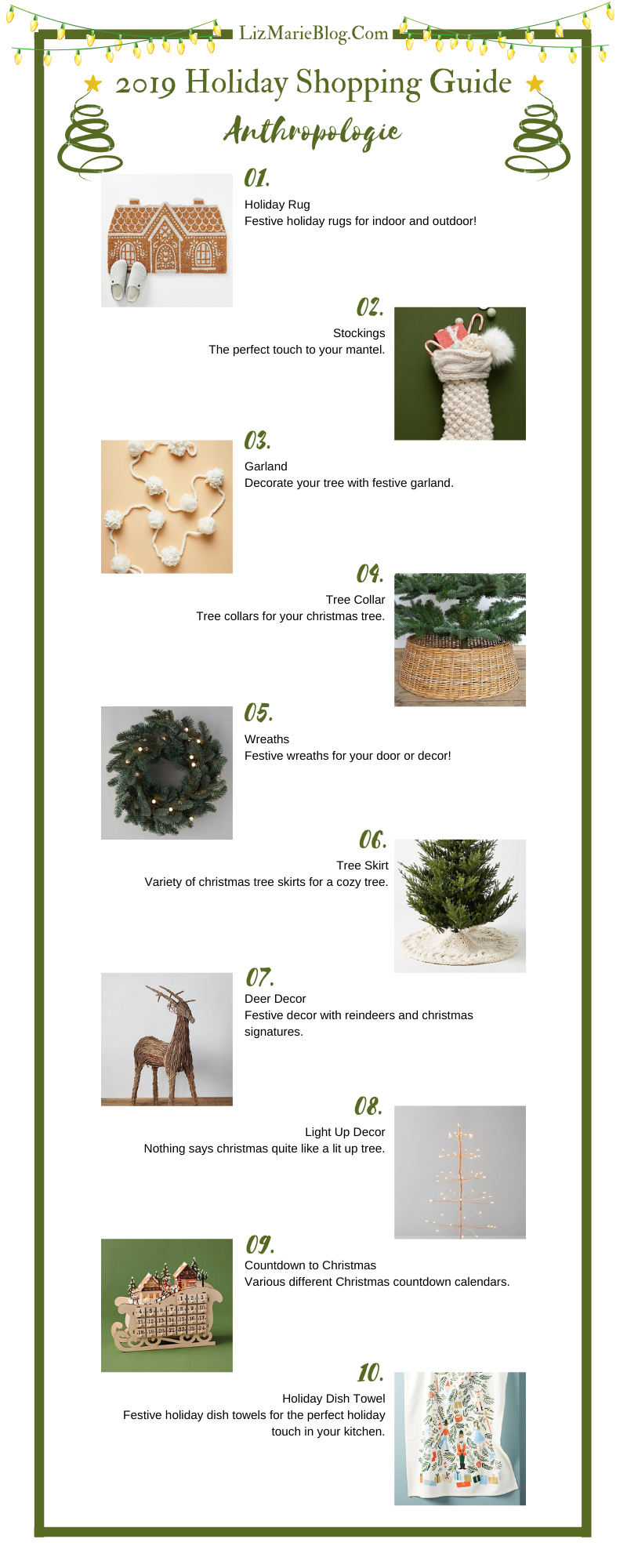 Anthropologie Holiday Shopping Guide