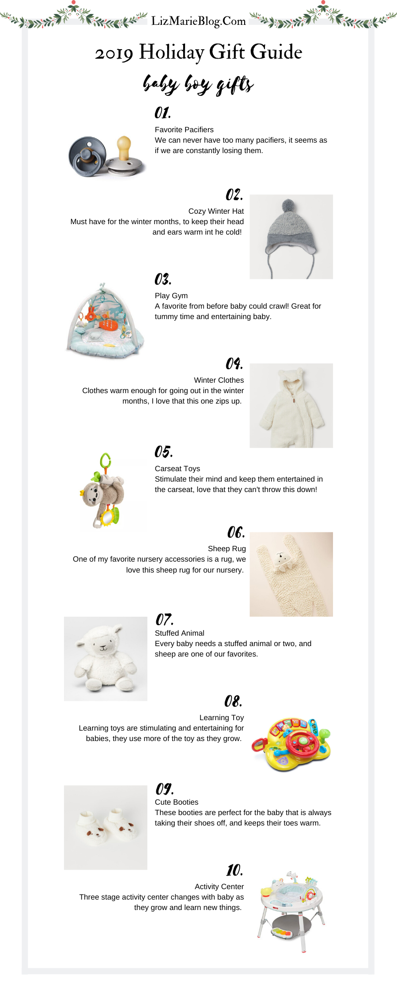 Christmas baby boy gift guide