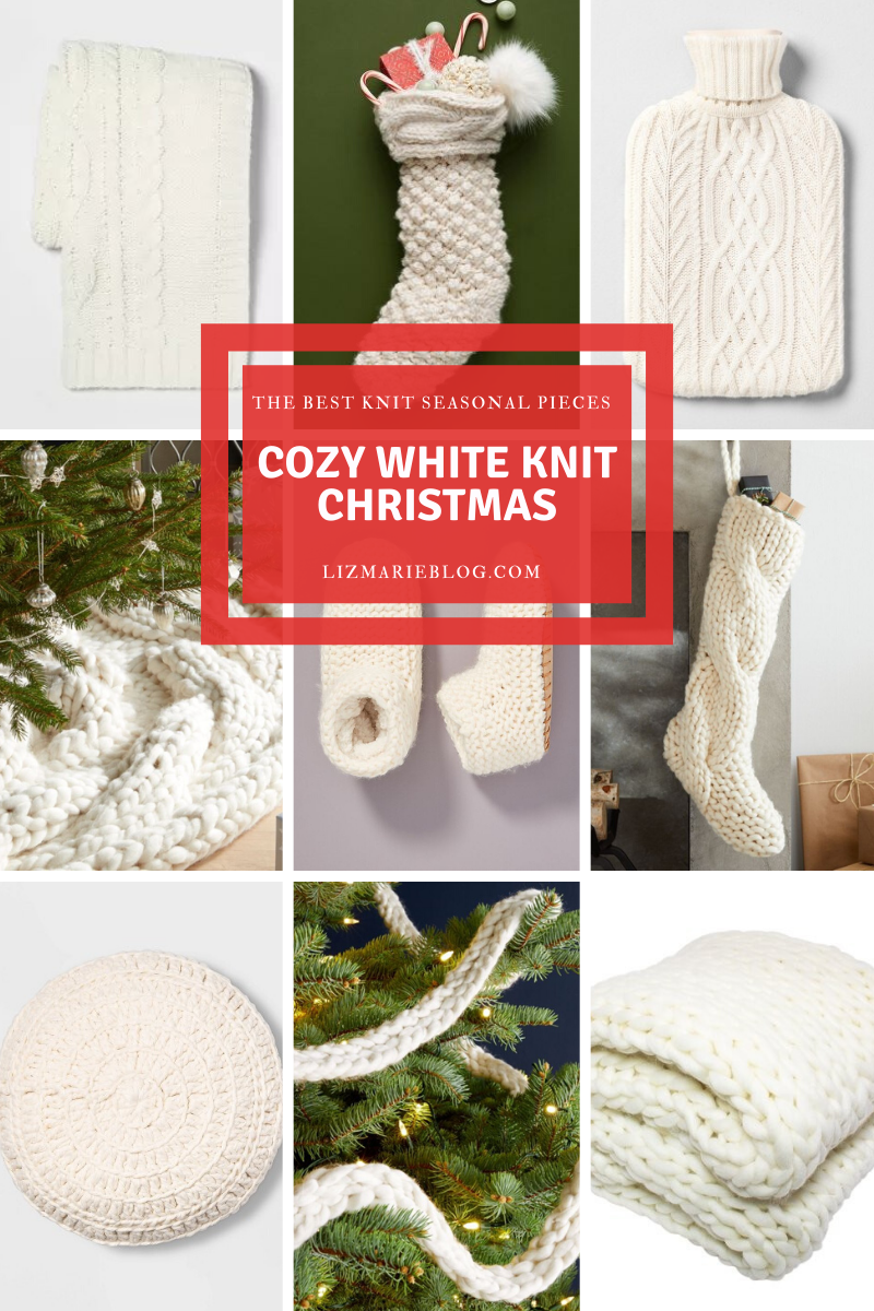Cozy White Knit Christmas Pieces