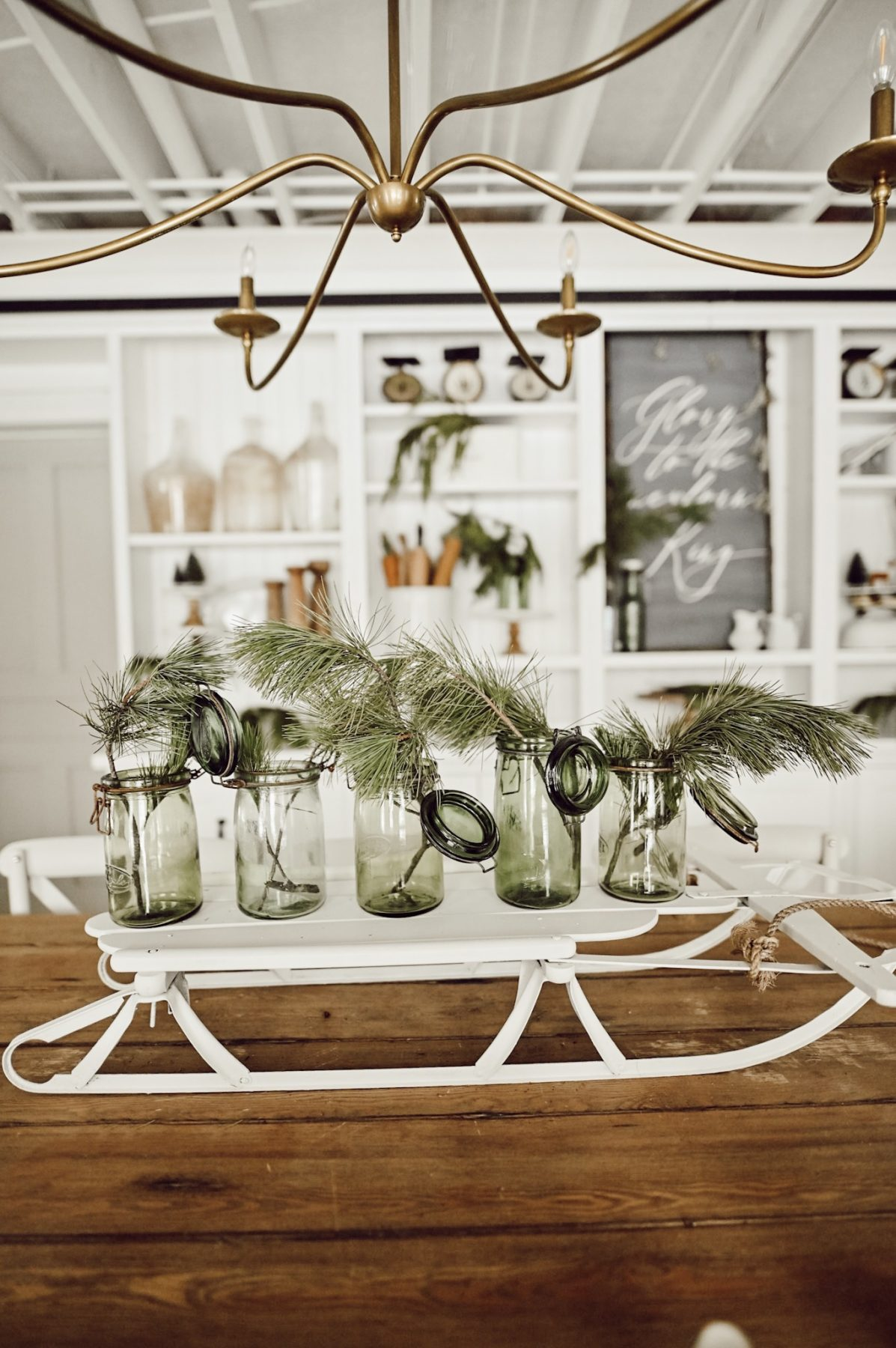 DIY Sled Centerpiece