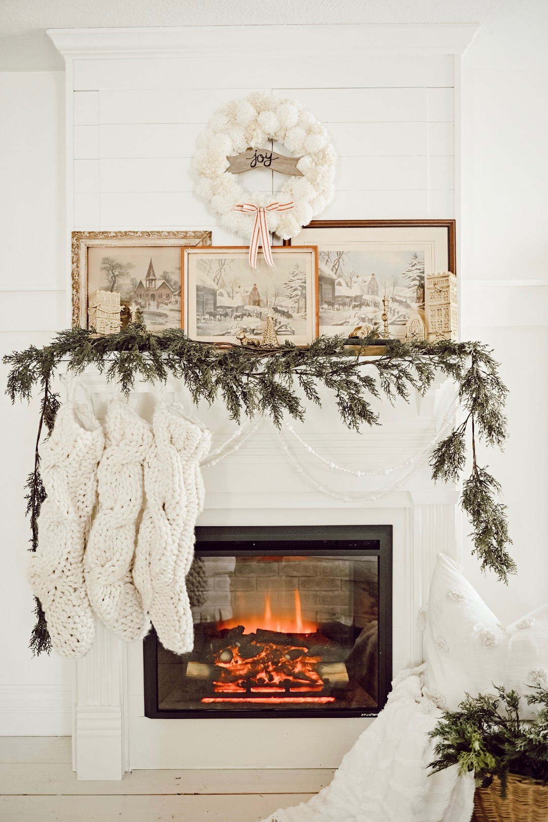 A Nostalgic Christmas Mantel