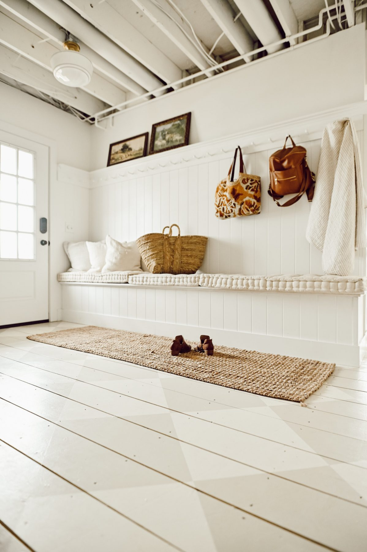 Mudroom Painted Floors