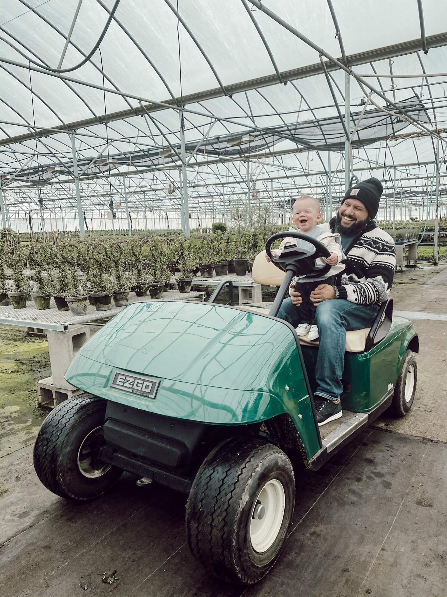 EZGO in a Greenhouse