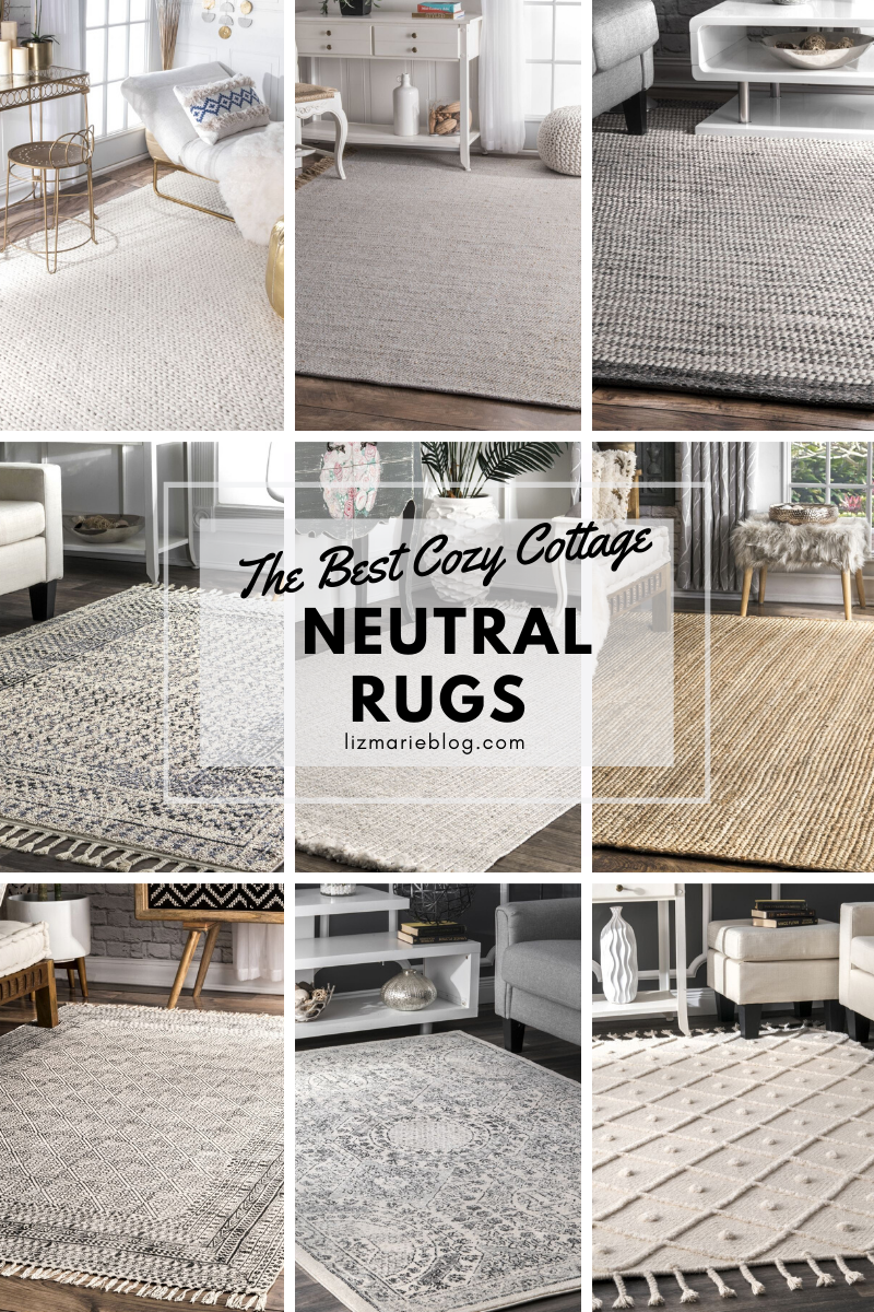 The Best Cozy Cottage Neutral Rugs