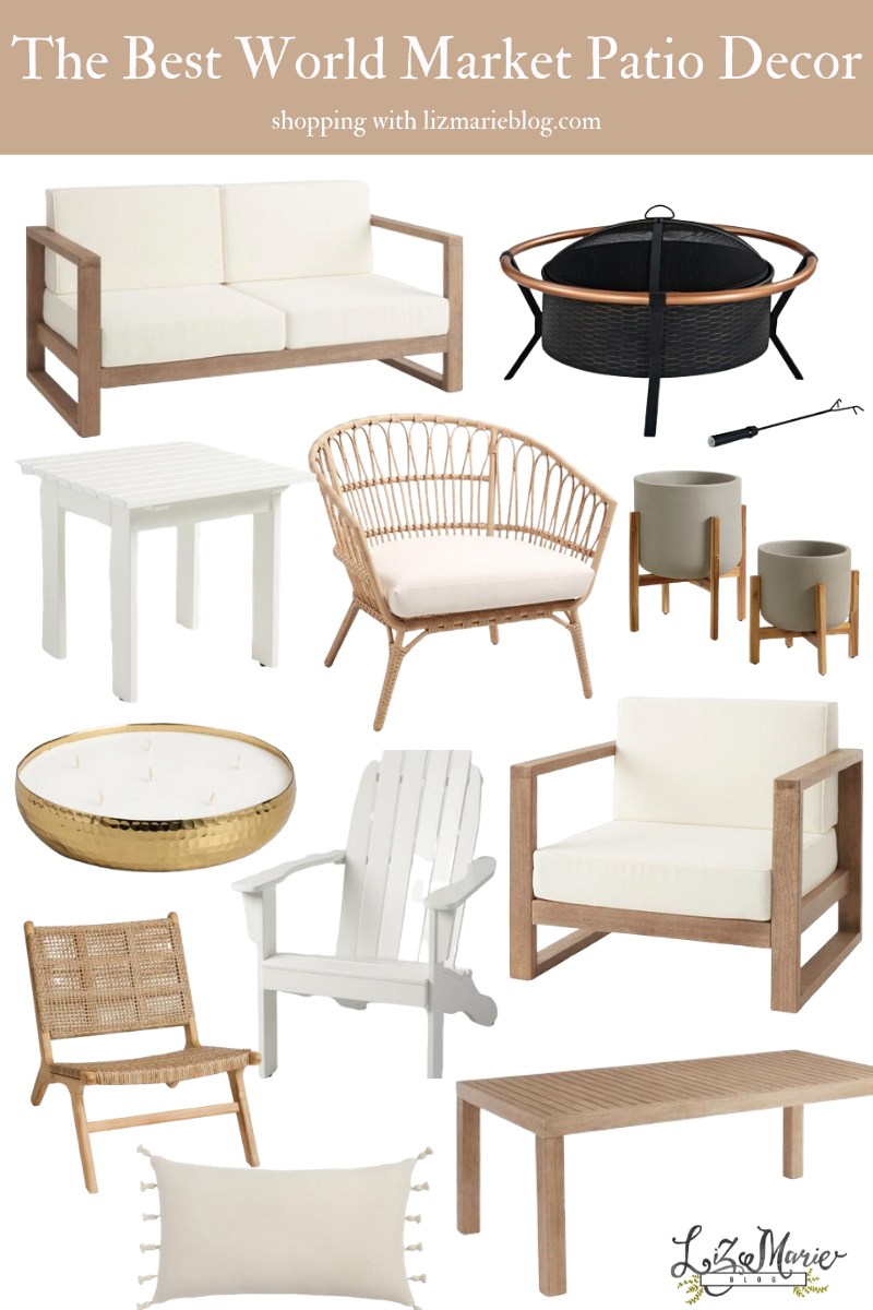 The Best World Market Patio Furniture and Decor Graphic