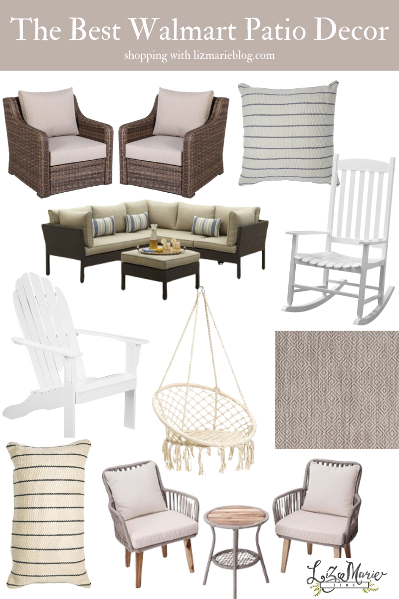 The Best Walmart Patio Furniture and Decor Graphic