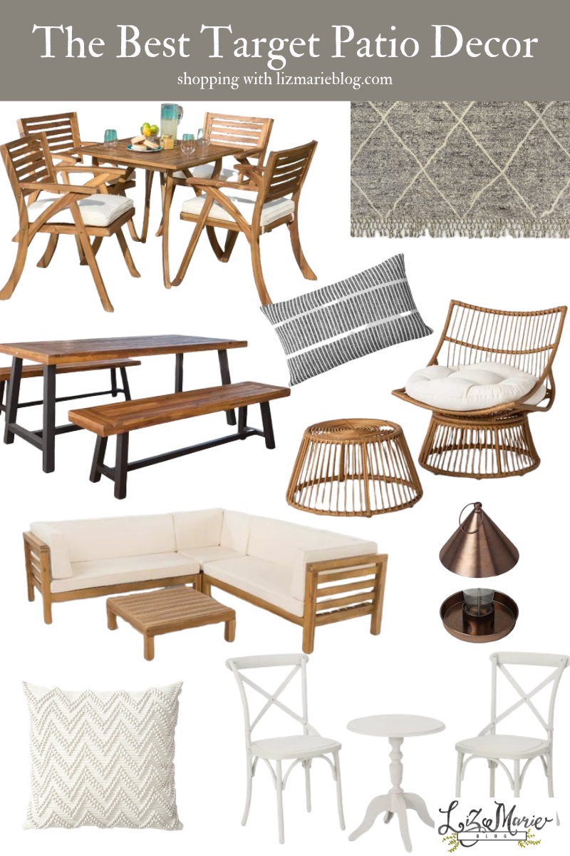 The Best Target Patio Furniture and Decor Graphic