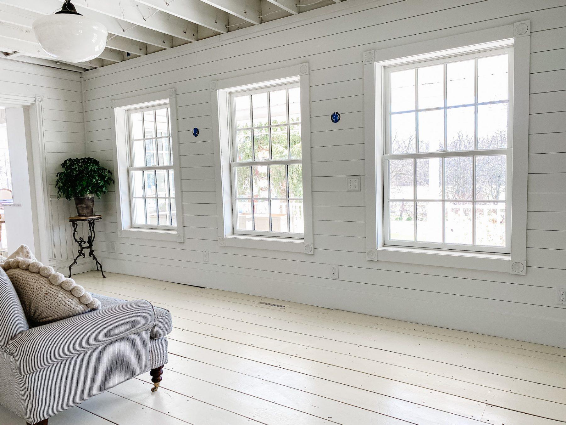 Three Andersen Windows in Liz Marie's new Sitting Room