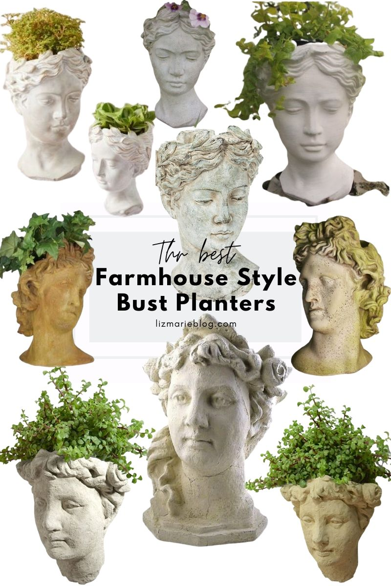 The Best Farmhouse Style Bust Planters