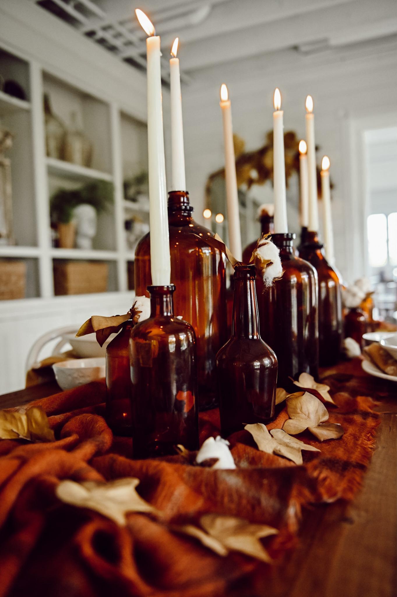 Peça central da garrafa de âmbar do outono - Blog de Liz Marie 25