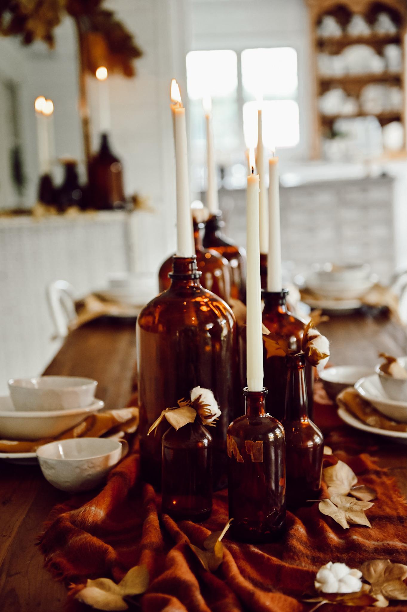 Peça central da garrafa de âmbar do outono - Blog de Liz Marie 22