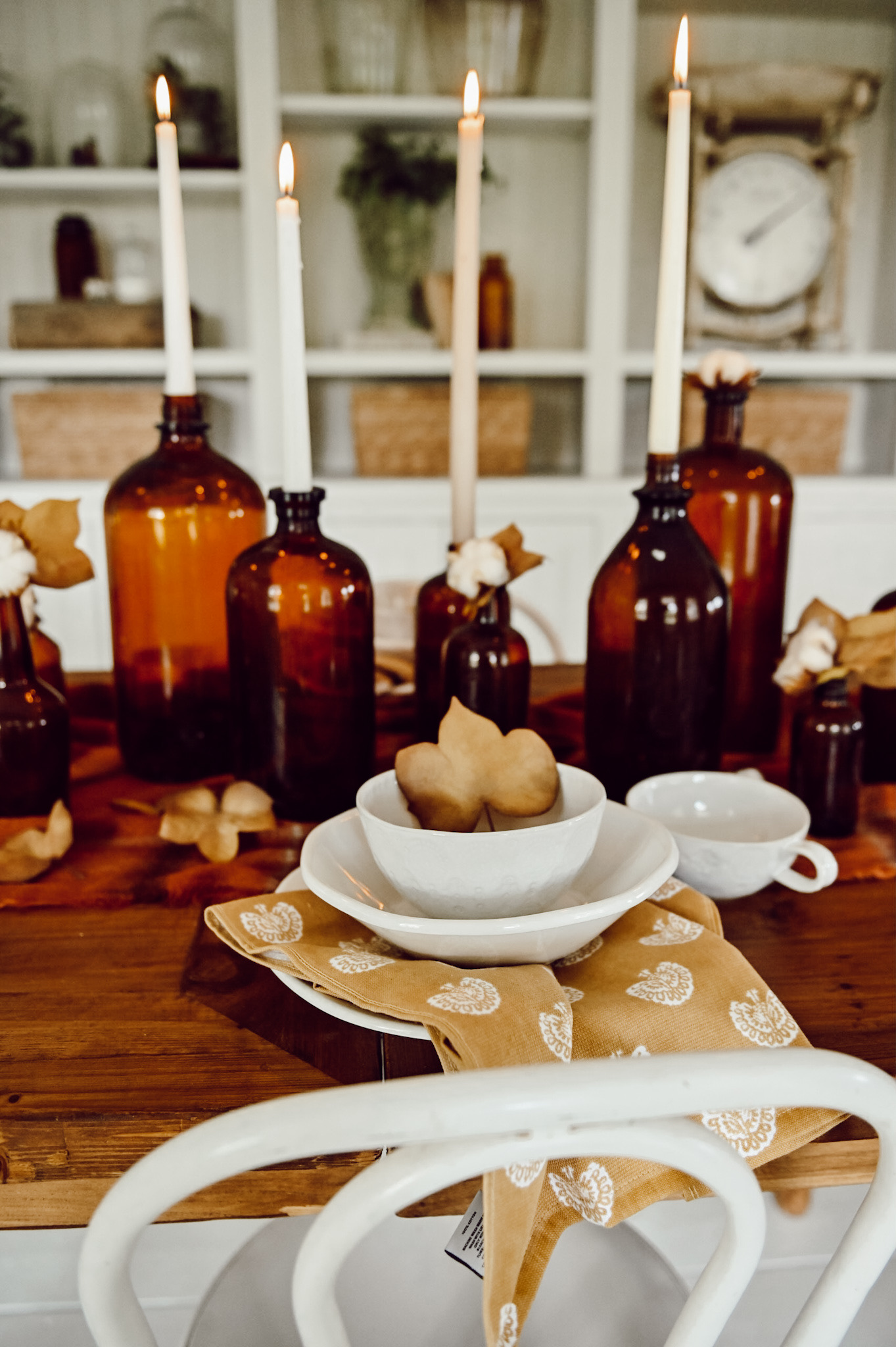 Peça central da garrafa de âmbar do outono - Blog de Liz Marie 20