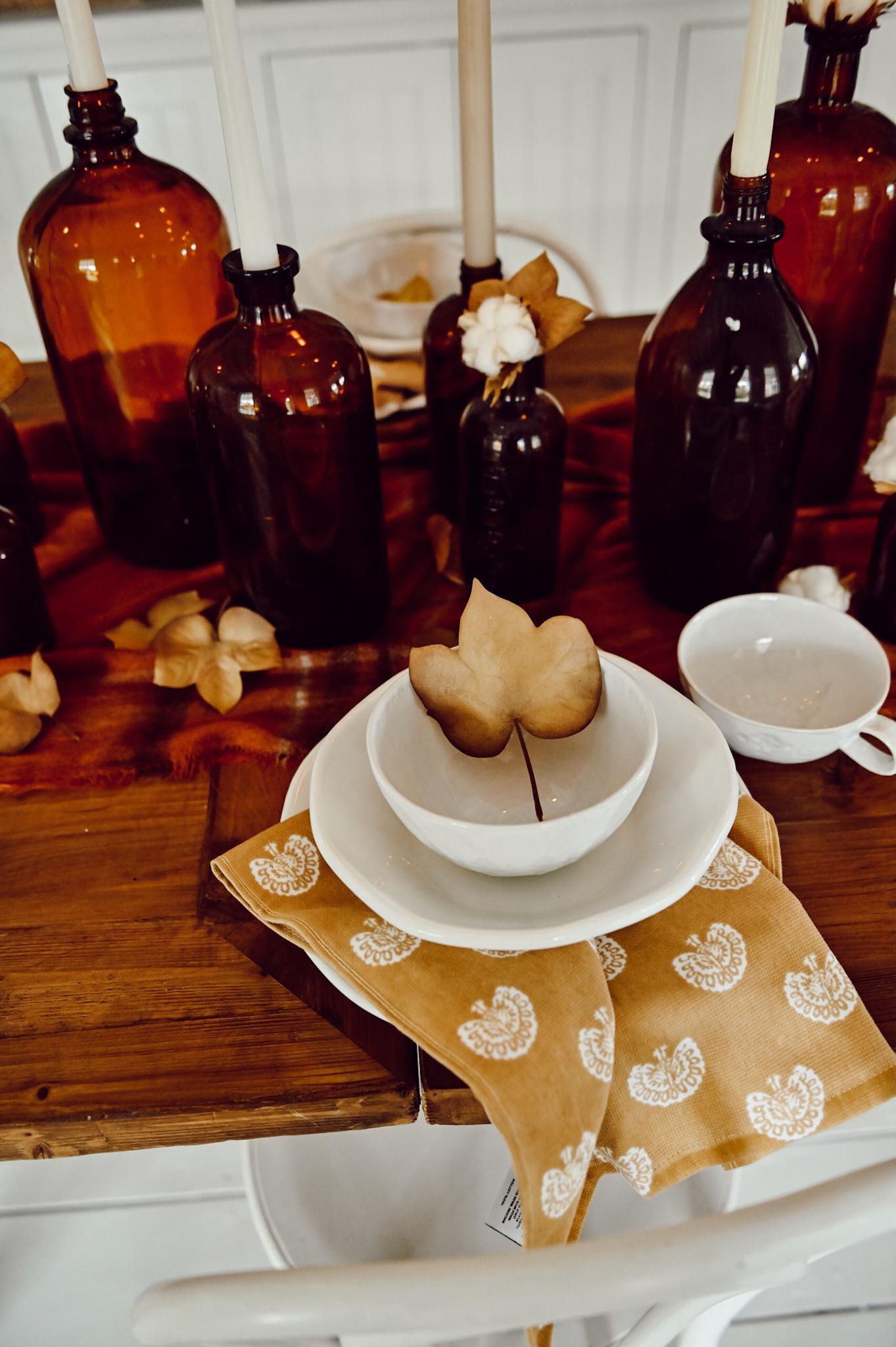 Peça central da garrafa de âmbar do outono - Blog de Liz Marie 23