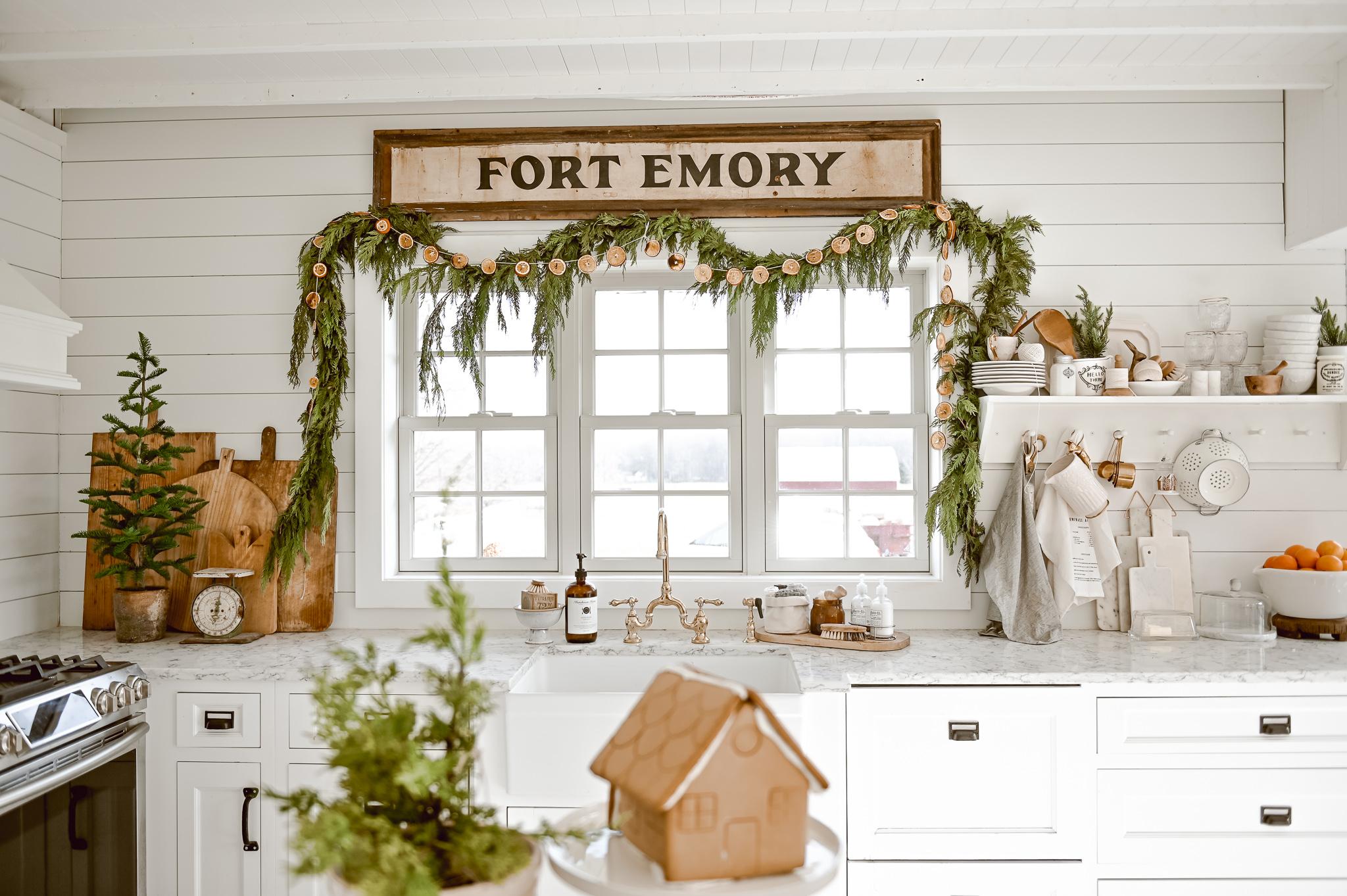 Cozy Christmas Kitchen Window