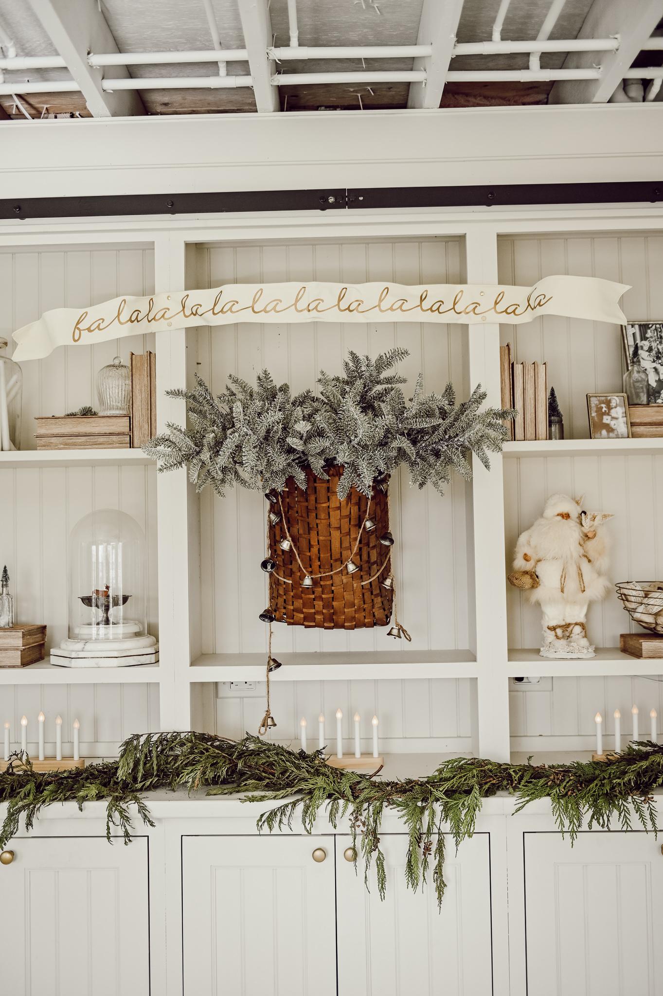Cozy Neutral Christmas Built-ins