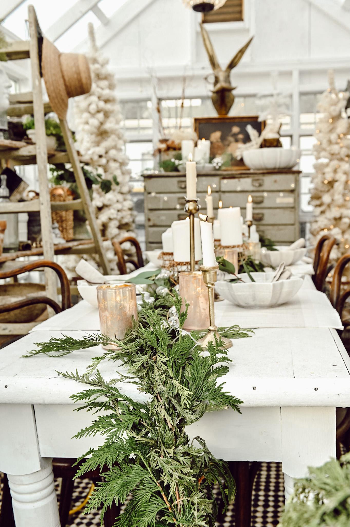 Greenhouse Christmas Centerpiece