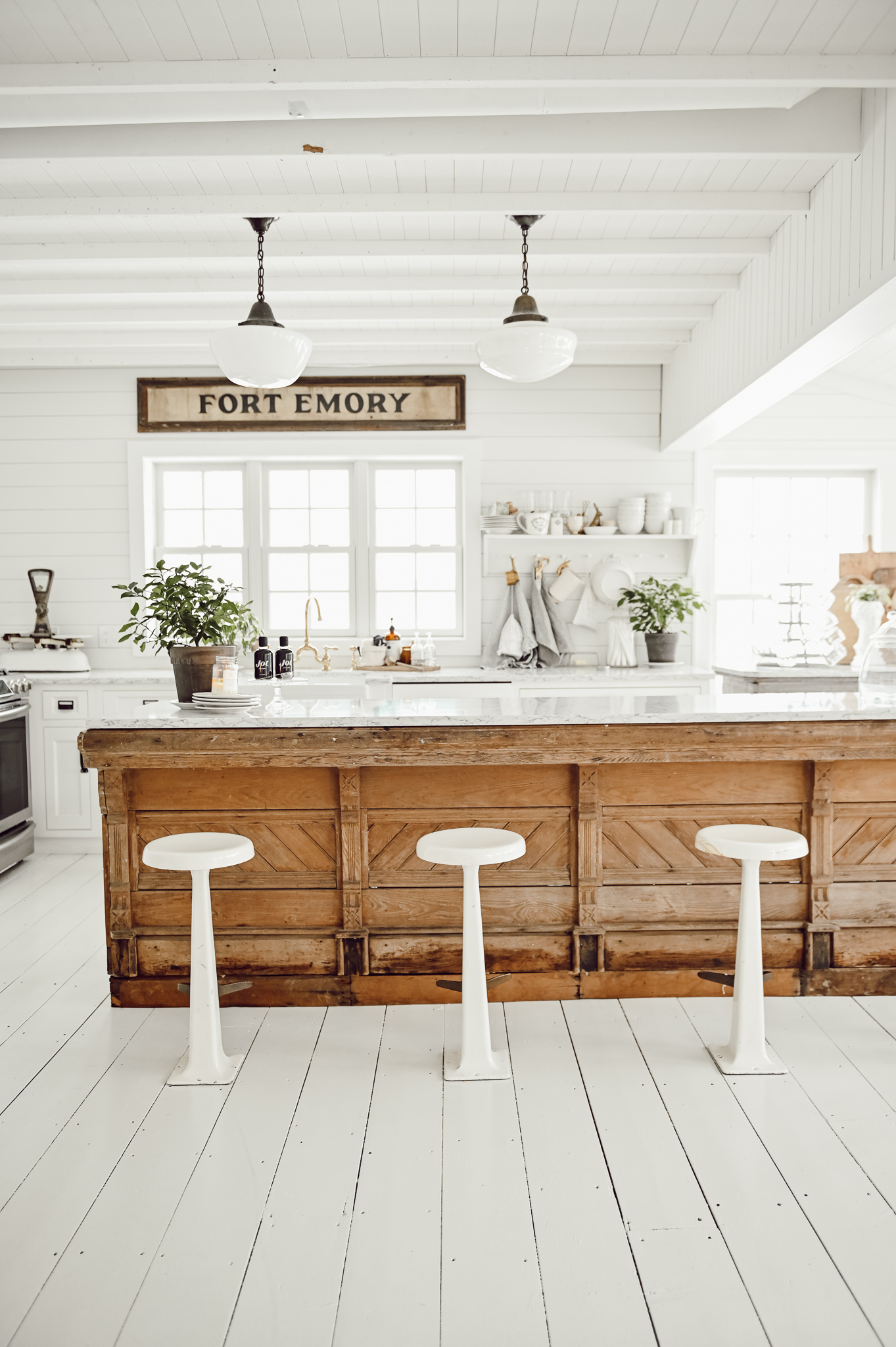 Antique Kitchen Counter in a Farmhouse