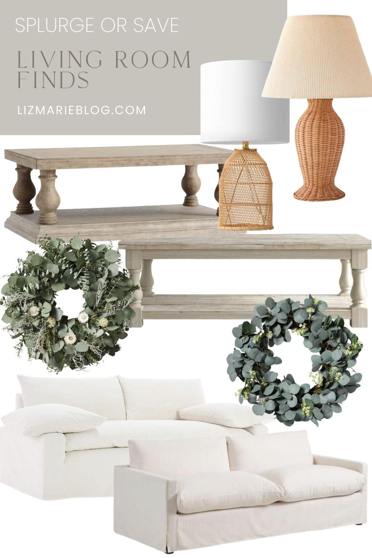Splurge or Save Living Room Finds