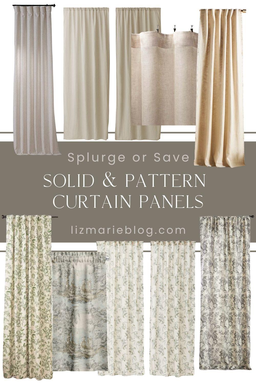 Splurge or Save Curtains