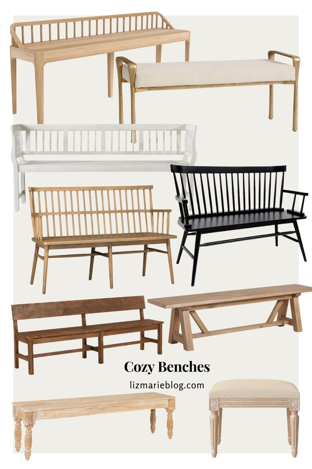 Cozy Benches for Entryways, Bedrooms, and Every Room in between!