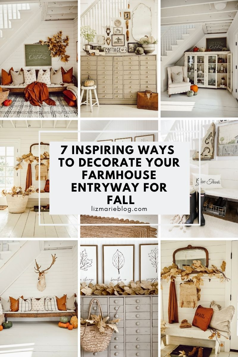 8 Cozy Ways to Style your Farmhouse Entryway for Fall