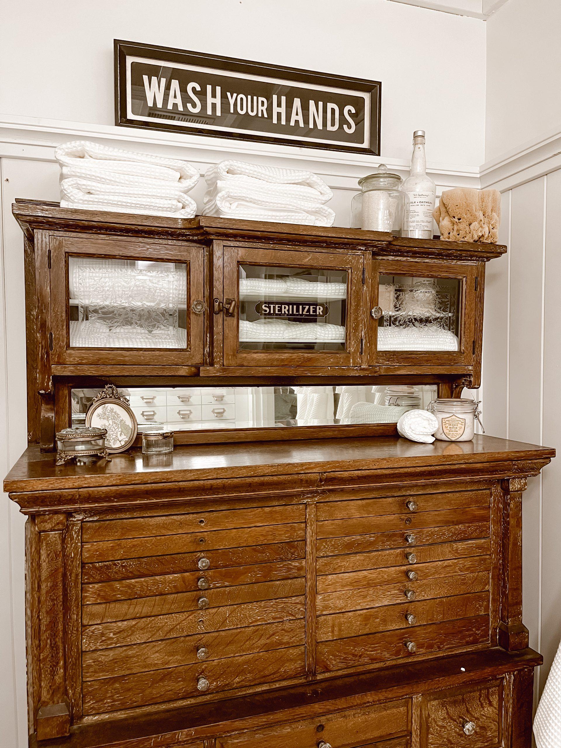 Unique Bathroom Antique Cabinet